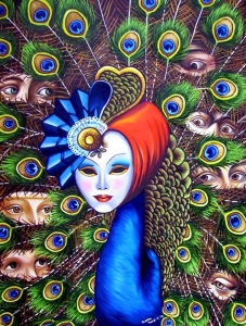 """Michela Mirici Cappa - """"Vanity"""" Omaggio ai Grandi Classici dell'arte - olio su tela - cm. 60x80"""