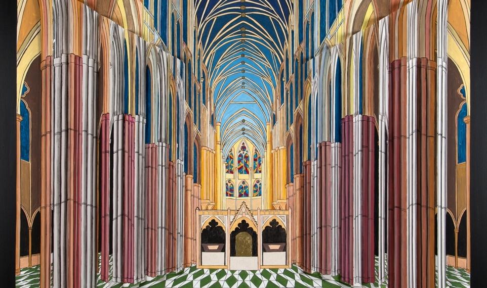 Rita Rossella Ciani - Westminster - acrilico su tela e tavola - cm. 100x120